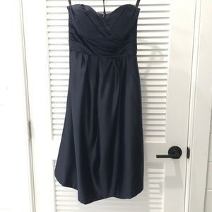 Bill Levkoff Navy Blue Bridesmaid / Formal Dress